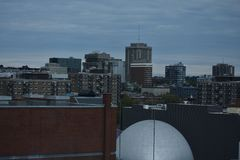 Skyline of downtown Montreal, Canada royalty free stock photography