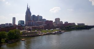 Skyline of Downtown Nashville, Tennessee. Royalty Free Stock Photo