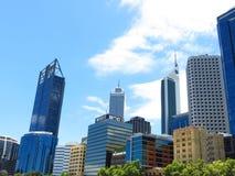 Skyline downtown Perth Royalty Free Stock Photos
