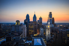 Skyline of downtown Philadelphia Stock Photography