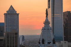 Skyline of downtown Philadelphia Royalty Free Stock Photos