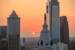 Skyline of downtown Philadelphia Royalty Free Stock Image