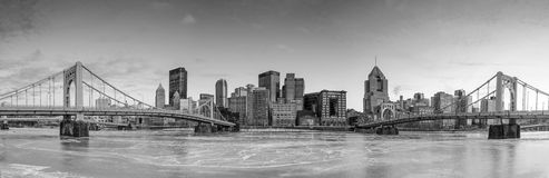 Skyline of downtown Pittsburgh Stock Photo