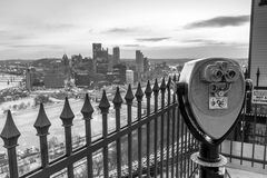 Skyline of downtown Pittsburgh Royalty Free Stock Photography
