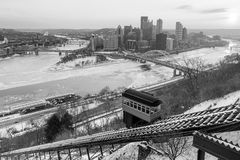 Skyline of downtown Pittsburgh Royalty Free Stock Photo