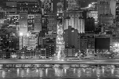 Skyline of downtown Pittsburgh stock photography