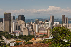 Skyline of Downtown Rio de Janeiro. Brazil stock images