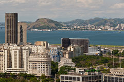Skyline of Downtown Rio de Janeiro. Brazil Royalty Free Stock Photography