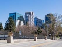 Skyline of downtown Sacramento. Afternoon view of Skyline of downtown Sacramento, California royalty free stock photos
