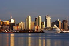 Skyline. Downtown San Diego,Ca Royalty Free Stock Images