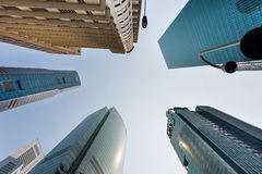 Skyline in downtown Singapore Stock Images