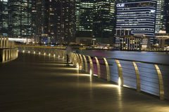 Skyline of Downtown Singapore @ Night Stock Images