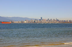 Skyline of Downtown Vancouver Royalty Free Stock Images