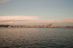 Skyline Dowtown Seattle Lizenzfreies Stockfoto