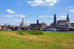 The skyline of Dresden Stock Image