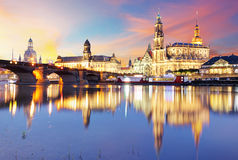 Skyline of Dresden Stock Photography