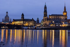 Skyline of Dresden in Germany Stock Image