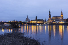 Skyline of Dresden in Germany Royalty Free Stock Photo