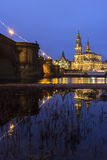 Skyline of Dresden in Germany Royalty Free Stock Photos