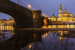 Skyline of Dresden in Germany royalty free stock images