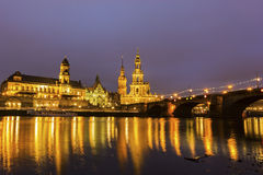 Skyline of Dresden in Germany Stock Photos