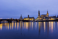 Skyline of Dresden in Germany stock images
