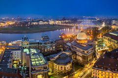 Skyline of Dresden, Germany Royalty Free Stock Images