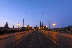 Skyline of Dresden royalty free stock images