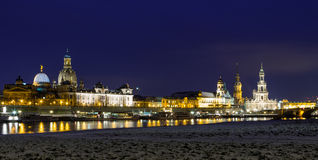 Skyline Dresden at twilight hour Royalty Free Stock Photography
