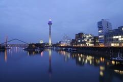 Skyline of Düsseldorf, Germany Stock Photos