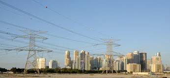 Skyline of Dubai City Royalty Free Stock Photo