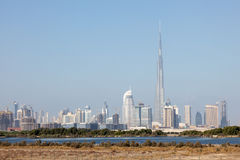 Skyline of Dubai City Royalty Free Stock Photos