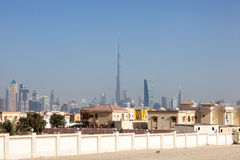Skyline of Dubai downtown Stock Photo