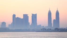 Skyline of Dubai Media City stock footage