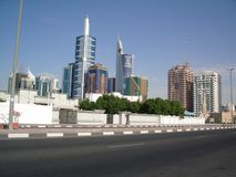 Skyline of Dubai UAE Stock Photos