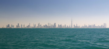 Skyline of Dubai (United Arab Emirates) Royalty Free Stock Photography
