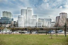 Skyline of Duesseldorf Stock Images