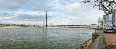 Skyline of Duesseldorf in Germany Royalty Free Stock Photography