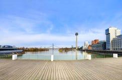 Skyline Dusseldorf Stock Image