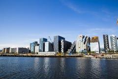 Skyline e água de Oslo Fotografia de Stock Royalty Free