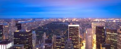 Skyline e Central Park de Manhattan Fotografia de Stock Royalty Free