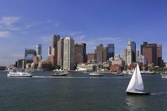 Skyline e porto de Boston Imagens de Stock Royalty Free