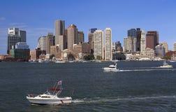 Skyline e porto de Boston Fotografia de Stock Royalty Free