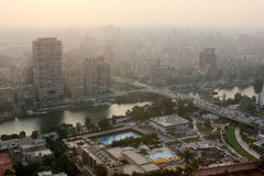 Skyline of egypt cairo Royalty Free Stock Photo