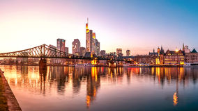 Skyline, Eiserner Steg, Frankfurt am Main Stock Photos