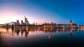 Skyline, Eiserner Steg, Frankfurt am Main Stock Images