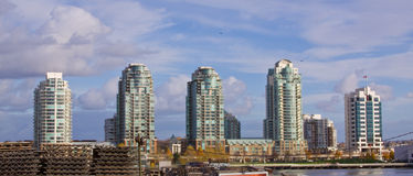 Skyline elevada da ascensão Imagem de Stock Royalty Free