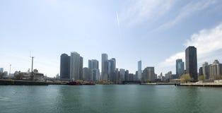 Skyline em Chicago fotografia de stock