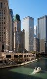 Skyline em Chicago do centro, Illinois Imagem de Stock Royalty Free