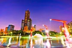 Skyline em Kaohsiung Foto de Stock Royalty Free